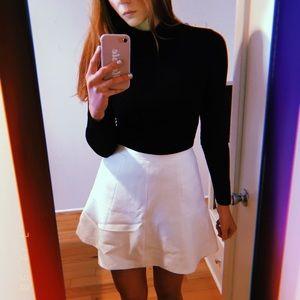 J.Crew white mini skirt.